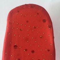 Bandeau rouge paillettes